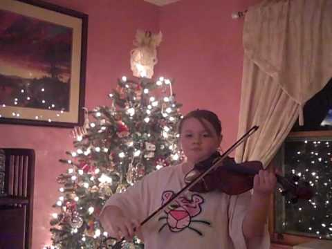 Serena playing Jingle bells on viola