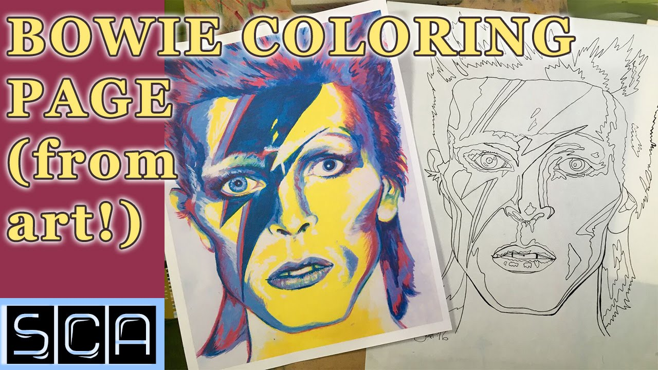 turning your art into coloring books david bowie coloring page