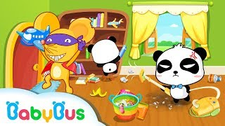 Children Learn to Tidy up | My Baby Gets Organized | Baby Panda Gets Organized | BabyBus Kids Games