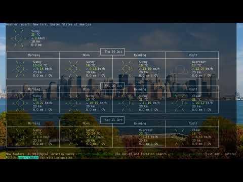 New York 3-days Forecast Thursday, 10/19/2017  5pm EDT