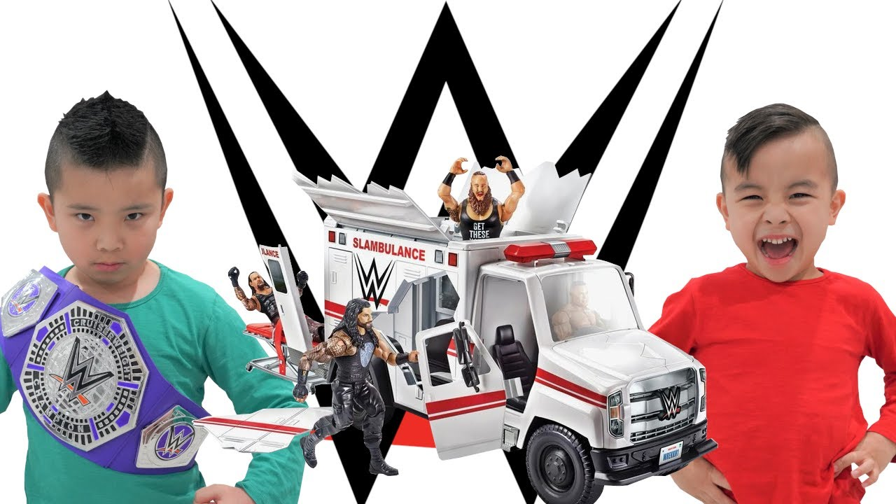 WWE Slambulance Fun With Calvin and Kaison CKN