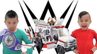 WWE Slambulance Fun With Calvin and Kaison CKN
