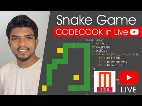 SNAKE GAME  : CODECOOK In Live