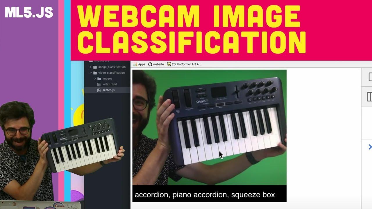 ml5 js: Webcam Image Classification