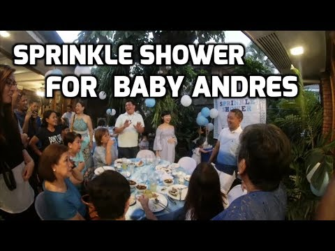 Baby shower for the coming of Baby Andres