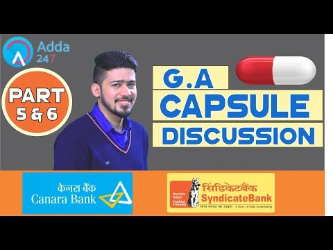 Last Minute Tips And GA Capsule Discussion (Part - 5 & 6) For SYNDICATE AND CANARA BANK