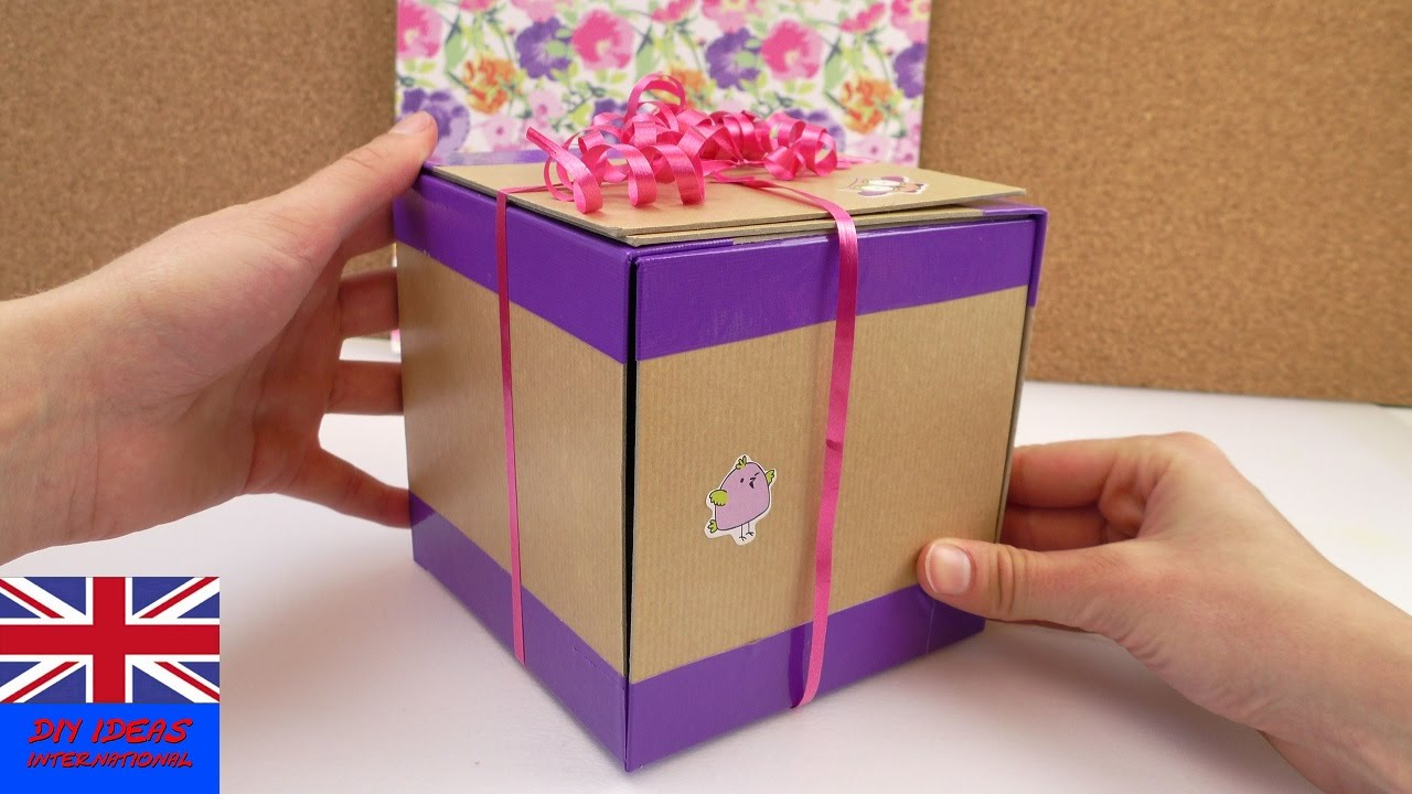 SURPRISE How To Make This Cool Gift Box