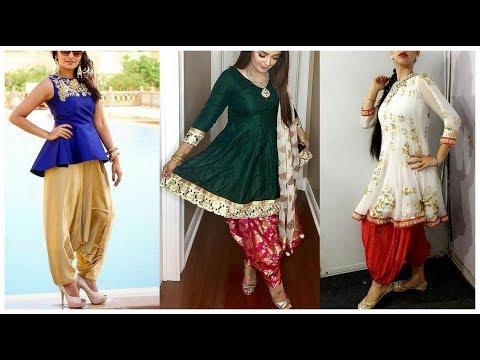 Short Frocks Style Kurti with Salwar || Short Frock with Patayala Salwar || Short Kurti Design 2018