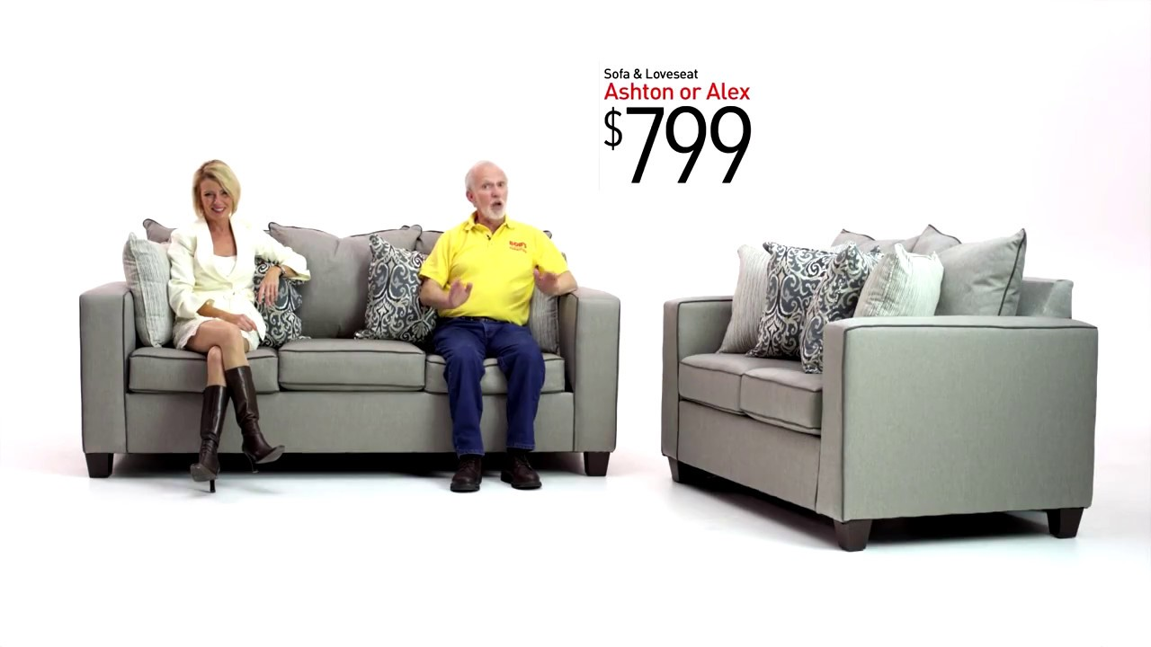 Ashton and Alex Sofa Sets | Bob's Discount Furniture - YouTube