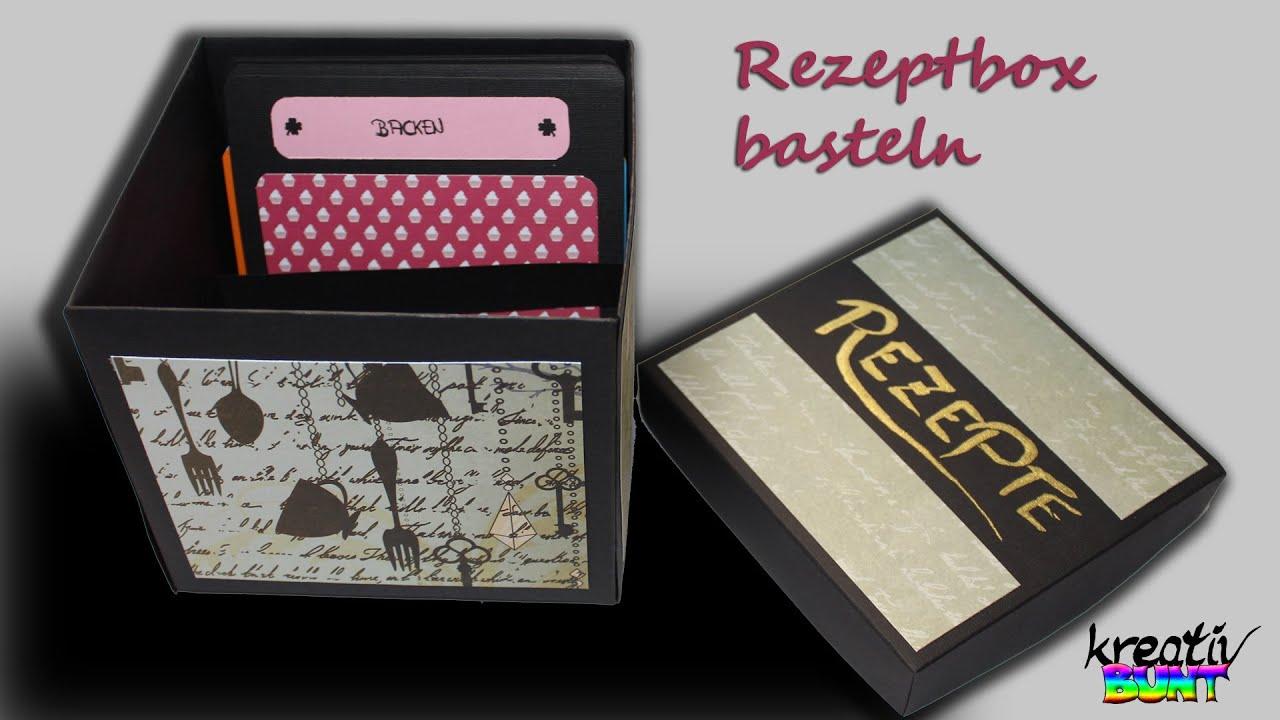 diy scrapbooking tutorial gro e rezeptbox f r. Black Bedroom Furniture Sets. Home Design Ideas