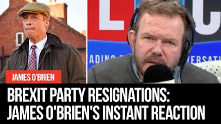 Brexit Party resignations: James O'Brien and Theo Usherwood's instant reaction
