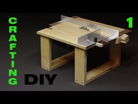 DIY. Делаем мини циркулярный станок. Mini saw table. Часть 1. Стол