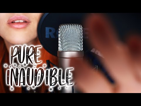 ASMR - PURE INAUDIBLE WHISPERING W/ Hand Movements, Upclose