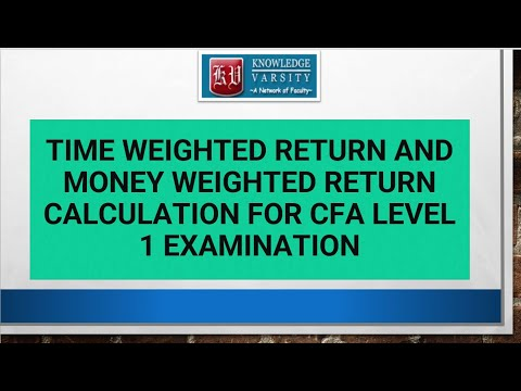 Time Weighted Return and Money Weighted Return Calculation for CFA Level 1 Examination