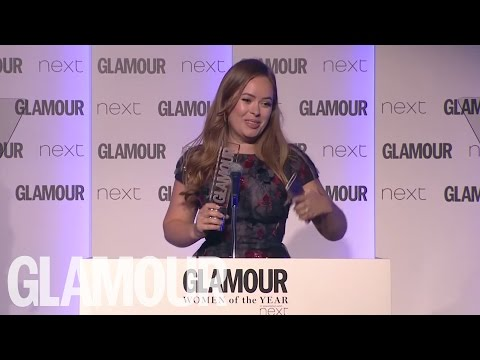 Tanya Burr's Acceptance Speech | Women of the Year Awards 2016 | Glamour UK