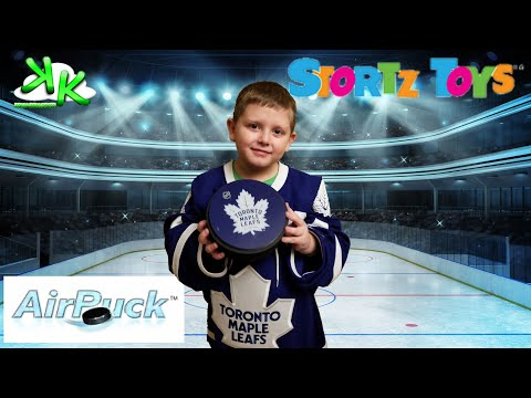 Toronto Maple Leafs Air Puck By Stortz Toys - Indoor Hockey With Air Gliding Puck