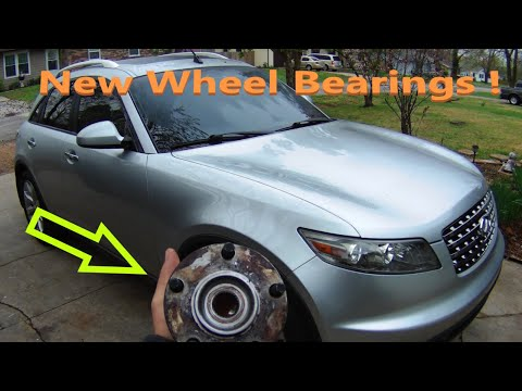 INFINITI Wheel Bearing Hub Replacement. FX35, EX35, FX45, FX50, G35, M37, M45 (How to install)