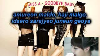 Goodbye Baby - Miss A (Karaoke/Instrumental)