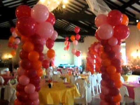 ... arche deco ballon Aix Toulon région paca salle de mariage - YouTube