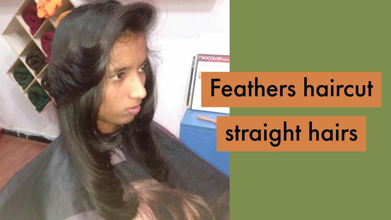 Straight long hair full feathers haircut (quick) #hairfullfeathreshaircuts