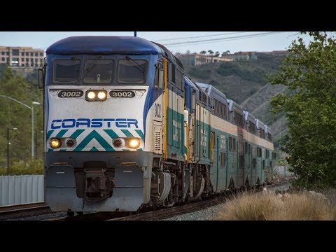 4K - Extreme Railfanning in San Diego: Amtrak, Coaster, Metrolink, & BNSF Trains in Early 2018