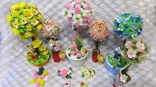 Топиарии из цветов своими руками. Идея. Сетка для цветов.