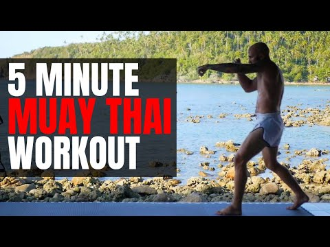 5 Minute Muay Thai Shadow Boxing Workout At Home (Follow Along!)