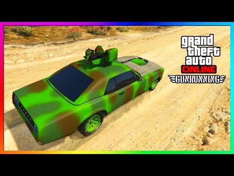 "GTA 5 Online - NEW ""WEAPONIZED TAMPA"" Car Vehicle Showcase! (GTA 5 Online Gun Running DLC)"