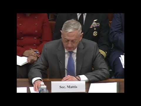 Defense Secretary Jim Mattis, Joint Chief Dunford testify at House hearing [2018.04.12]