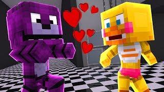 Minecraft: ESCOLINHA DE ANIMATRONICS - BONNIE TENTOU BEIJAR CHICA!! (FIVE NIGHTS AMT FREDDY'S)#19
