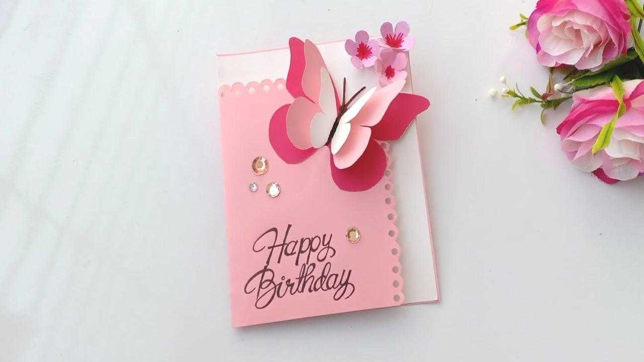 Butterfly Pop Up Birthday Card / Handmade easy card Tutorial