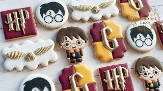 How to Make & Decorate HARRY POTTER  Cookies - Gryffindor Decorated Cookies