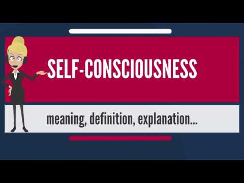 What is SELF-CONSCIOUSNESS? What does SELF-CONSCIOUSNESS mean? SELF-CONSCIOUSNESS meaning
