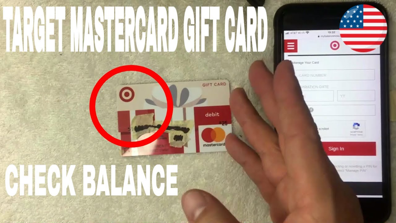How To Check Balance On Target Mastercard Gift Card Youtube