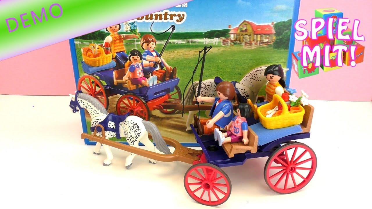 Playmobil country ausflug mit pferdekutsche demo 5226 youtube - Playmobil kutsche ...