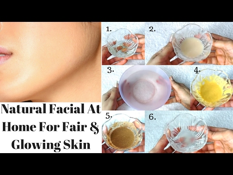 How To Do Facial At Home With Natural Ingredients | Natural Bridal Facial For Fair And Glowing Skin