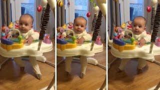 baby performs perfect irish jig