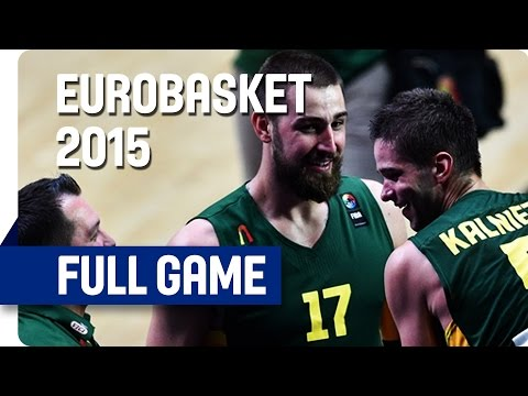 Serbia v Lithuania - Semi-Final - Full Game - Eurobasket 2015