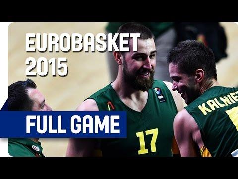 Serbia v Lithuania - Semi-Final - Full Game - Eurobasket 2015