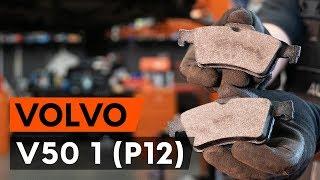 How to replace rear brake pads / rear brake pad set onVOLVO V50 1 (P12) [TUTORIAL AUTODOC]