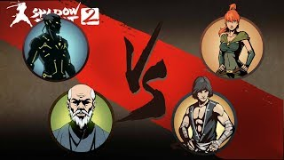 Shadow Fight 2 Shadow and Sensei Vs May And Disciple