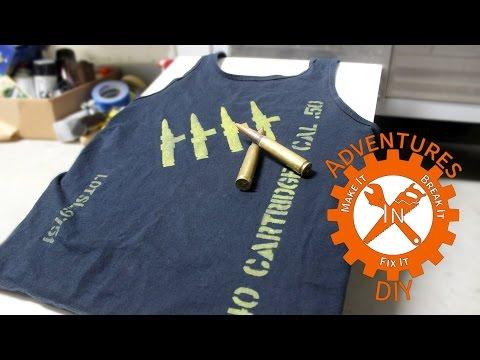 Make a Custom T Shirt with Spray Paint