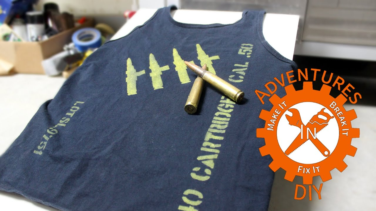 Make a Custom T Shirt with Spray Paint - YouTube