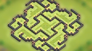 Clash Of Clans - Town Hall 9 (TH9) New Best Farming Base 2015 [The Slit] Speed Build