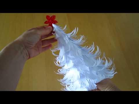 3D Weihnachtsbaum aus Papier selber machen