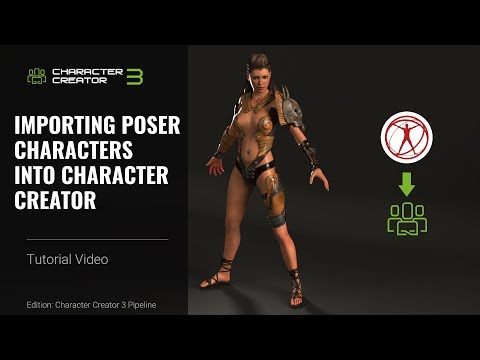 Character Creator 3 Tutorial - Importing Poser Characters Into Character Creator