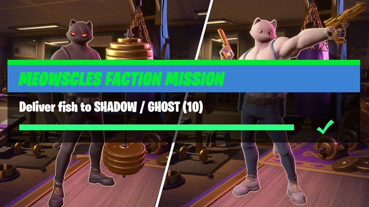 Salty Springs Fish Location Fortnite Deliver Fish To Shadow Ghost 10 Fortnite Meowscles Faction Mission Youtube