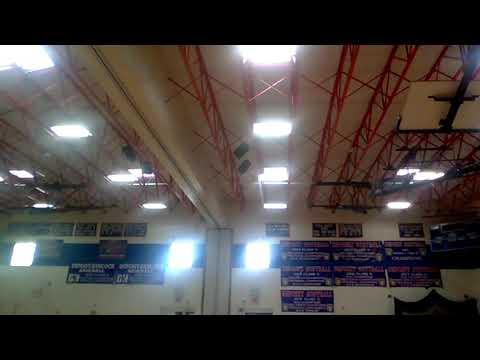 Electro Voice Speakers in Deposit Elementary School Gym 2