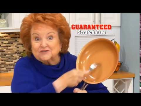 Red Copper Fry Pan As Seen On Tv Usa Youtube