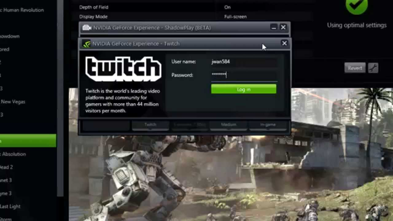 GeForce Experience 2 1 Adds In-Game FPS Counter, Shadow Mode